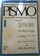 """Miesięcznik """"Pismo"""" Nr 1 - marzec 1981 r"""