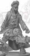 Zombicide - zombie wojownik z Arabii