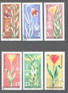 Znaczki Kwiaty seria kas Bułgaria 1978