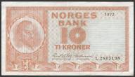 Norwegia - 10 koron - 1972 rok