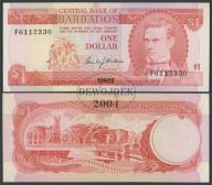 MAX - BARBADOS 1 Dollar (1973) r. # VF++