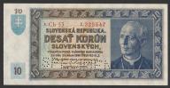Słowacja - 10 koron - 1939 - stan UNC