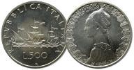 6.WŁOCHY, 500 LIRÓW 1997 mennicza