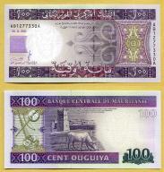-- MAURETANIA 100 OUGUIYA 2011 AB-A P16a UNC