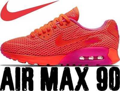 Buty Wmns Nike Air Max 90 Ultra Breathe pomarańczowe 725061 800