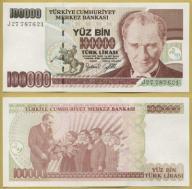 -- TURCJA 100000 LIRASI 1970 (1997) J27 P206 UNC