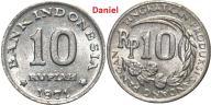10 rupii z 1971 roku z Indonezji