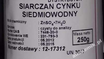 SIARCZAN CYNKU 7-wodny CZDA -- 250 g  od Firmy