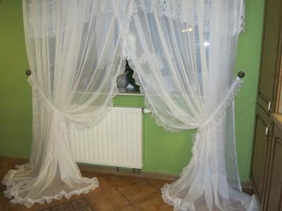 CUDNA ROMANTYCZNA FIRANA FALBANKI BIELUTKA-590/240