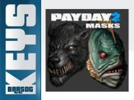PAYDAY 2 LYCANWULF AND ONE BELOW MASKS DLC STEAM
