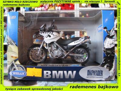 Bmw F650 Gs Dakar Motocykl Welly Motor Pojazd 3 5583779818