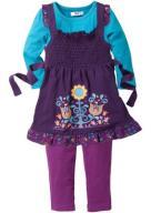 Komplet z legginsami i sukienką 80 fiolet GA232