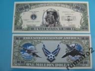 Banknoty Mil Dollars HIT w USA AIR FORCE F16 UNC