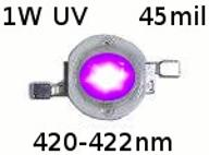 DIODA 1W POWER LED UV 420-422nm 45mil (010F)