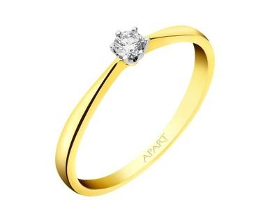 Apart Pierścionek Zaręczynowy Diament Złoto R10 6908422676