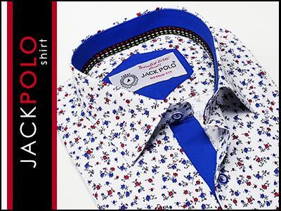 11bf9f1835b7cf XXL 45/46 Koszula męska JACKPolo SLIM kwiaty KD* - 5692273178 ...
