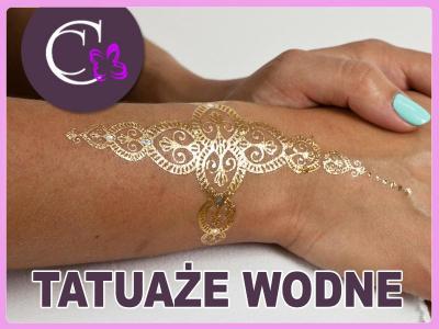 Tatuaże Metaliczne Złote Srebrne Flash Tattoo 5630706974
