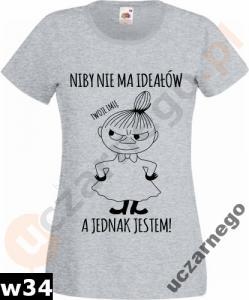 Koszulka Damska Mala Mi Muminki Padlas Plus Imie 5160959031 Oficjalne Archiwum Allegro