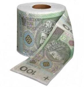 PAPIER TOALETOWY 100 ZŁ PLN papier dla bogacza