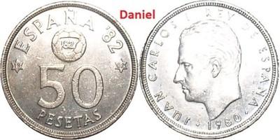 50 peset z 1980 (-82) roku z Hiszpanii