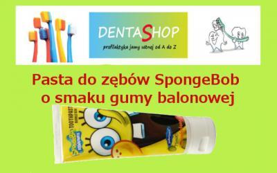 Pasta do zębów Bob gąbka SpongeBob Dr Fresh guma