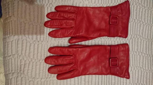 917c986cbab7e Rękawiczki damskie czerwone skórzane Gino Rossi - 7042293246 ...
