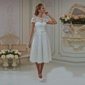 93e218da0b Suknia Ślubna Krótka Cywilny Gorset Idealna - 6348798980 - oficjalne ...