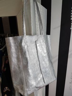 5f789930cb86e Italy supet torba worek skóra srebrna - 6840841529 - oficjalne ...
