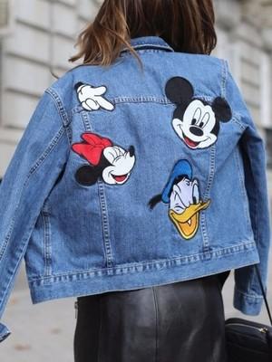 ZARA kurtka jeansowa z nadrukiem MICKEY r.M