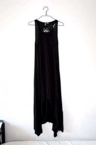 cba031761d H M czarna sukienka maxi ażurowe plecy XS S - 6260780676 - oficjalne ...