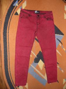 spodnie bordowe jeans rozm. L