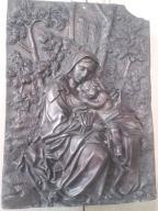 Ikona z 1889 miedzioryt Matka boska z dzieciątkiem