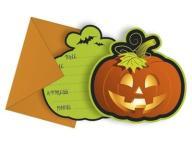 Zaproszenie na Halloween Dynia 1szt