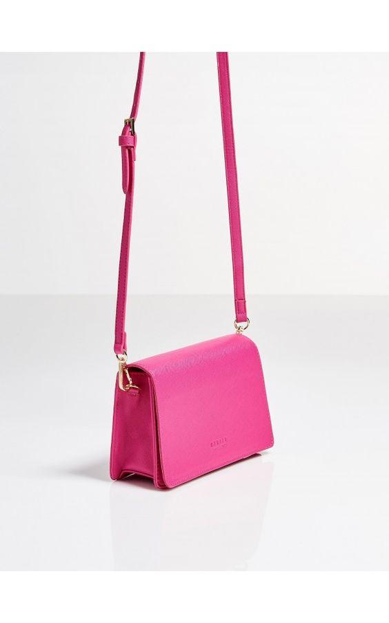 05d30e39e5d0d torebka MOHITO różowa fuksja długi pasek róż - 7053503236 ...