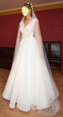 21d4800aa8 Suknia ślubna koronka rozmiar 38 40 - 6701718144 - oficjalne ...