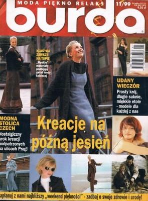 BURDA NR 11/1999 Z WYKROJAMI BDB