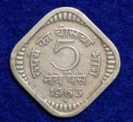 Indie 5 Paise 1963 r.    413/9