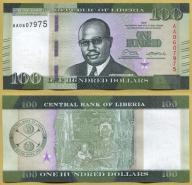 -- LIBERIA 100 DOLLARS 2016 AA Pnew UNC