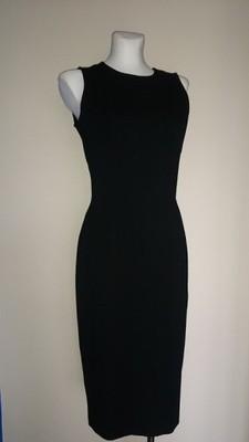 Czarna sukienka midi Mohito odkryte plecy M