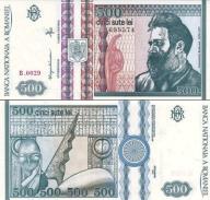 # RUMUNIA - 500 LEI - 1992 - P101 - UNC