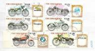 Świat zestaw znaczków kasowanych Motocykle