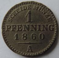 1 Pfenning 1860 A Ładny