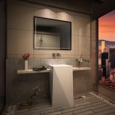 Lustro łazienkowe Led 3d Wh Efekt Głębi 150x100 6622694060 Oficjalne Archiwum Allegro