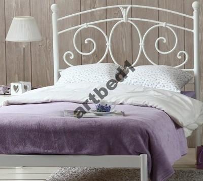 łóżko Metalowe Kute Jednoosobowe Sylvia 90x200cm