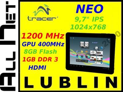 Tablet Tracer Neo 10' IPS 8GB 1,2 +Etui Klawiatura