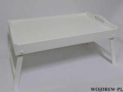 Stolik śniadaniowy Na Nóżkach Taca Do łóżka Biała