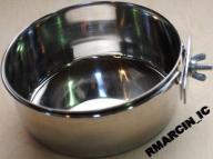 MISKA METALOWA PRZYKRĘCANA na pokarm, wodę - 9,5cm