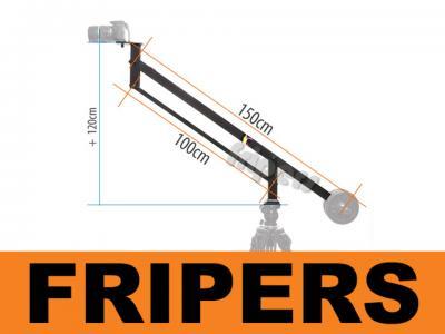 Kran kamerowy żuraw, wysięgnik, jib 150cm Fripers