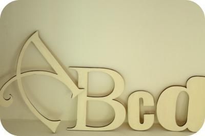 Literki drewniane -na ścianę. Sentencje, wyrazy. X