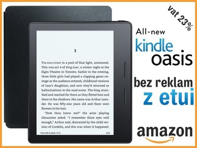 Amazon KINDLE OASIS 2016 BEZ REKLAM z etui NOWOŚĆ